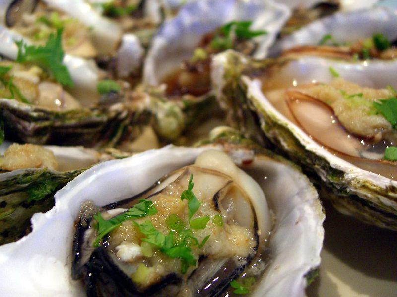 Zinc rich oysters.