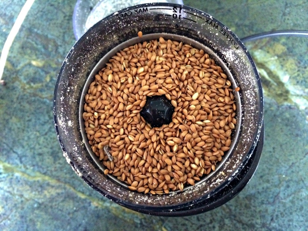 Flax seeds ready for grinding.