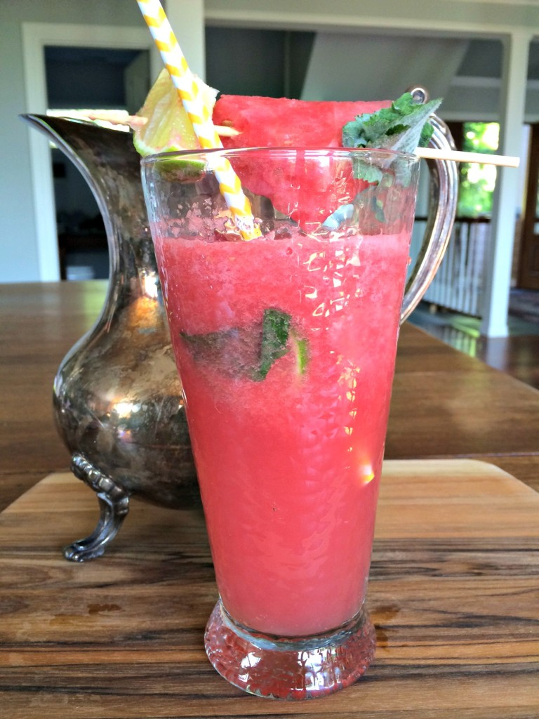 A pitcher of hydrating watermelon coolers.